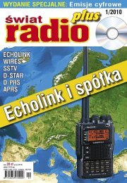 �wiat Radio PLUS 1/2010 - ok�adka